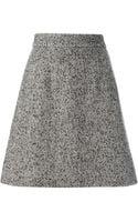Dolce & Gabbana Tweed Aline Skirt - Lyst
