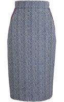 Roksanda Ilincic Herringbone Pencil Skirt - Lyst