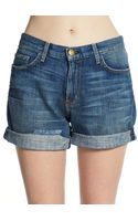 Current/Elliott Boyfriend Rollup Denim Shorts - Lyst
