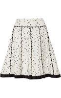 Oscar de la Renta Twill-trimmed Flecked Tweed Skirt - Lyst