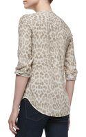 Equipment Lynn Silk Printed Long-sleeve Blouse - Lyst