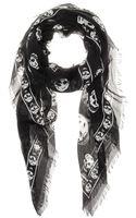 Alexander McQueen Skull Printed Scarf - Lyst
