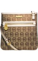 Michael Kors Michael Signature Jet Set Large Crossbody - Lyst