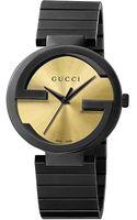 Gucci Mens Interlocking Gs Pvd Watch - Lyst