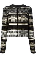 Proenza Schouler Geometric Knit Cardigan - Lyst