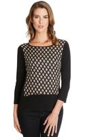 Lucky Brand Ditzy Placed Woodblock Print Top - Lyst