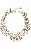 Oscar de la Renta Russian Gold Coral Branch Necklace - Lyst