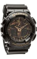 G-shock The Ga100 Camouflage Dial Watch - Lyst