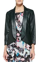 Rebecca Minkoff Ace Openfront Leather Jacket - Lyst