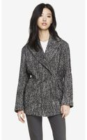 Express Double Breasted Tweed Cocoon Coat - Lyst