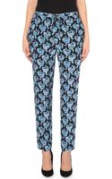 Emilio Pucci Butterfly Print Silk Trousers - Lyst