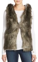 Jessica Simpson Faux Fur Hooded Vest - Lyst