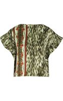Suno Crinkled Cotton and Silk Blend Top - Lyst