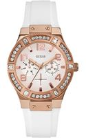 Guess Womens White Silicone Strap Watch 39mm - Lyst