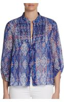Dv By Dolce Vita On The Road Printed Chiffon Blouse - Lyst