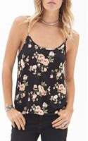 Forever 21 Cutout Floral Print Cami - Lyst