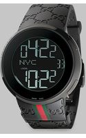 Gucci I- Collection Black Digital Watchgreen Red Green Strap - Lyst