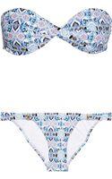 Melissa Odabash Martinique Printed Bandeau Bikini - Lyst