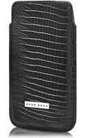 Hugo Boss Emed Leather Cell Phone Case - Lyst
