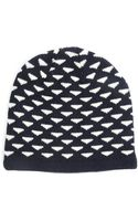 Homecore Jul Blue and Off-white Jacquard Wool Beanie - Lyst