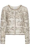 Oscar de la Renta Embellished Silk Jacket - Lyst