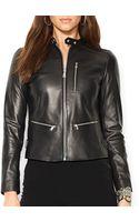 Ralph Lauren Lauren Leather Biker Jacket - Lyst