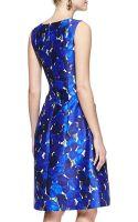 Oscar de la Renta Sleeveless Roseprint Dress - Lyst