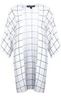 Topshop Womens Tall Grid Print Kimono  Ivory - Lyst