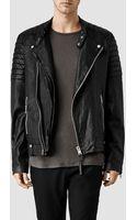AllSaints Jasper Leather Biker Jacket - Lyst