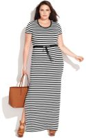 Michael Kors Michael Plus Size Shortsleeve Striped Maxi Dress - Lyst