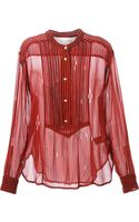 Etoile Isabel Marant Charley Striped Blouse - Lyst
