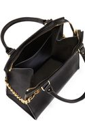 Sophie Hulme Chain Leather Shopper Black - Lyst