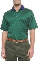 Peter Millar Dotted Cotton Polo Shirt - Lyst