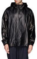 3.1 Phillip Lim Adjustable Hood Leather Jacket - Lyst