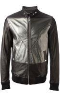 Diesel Black Gold Metallic Panelled Jacket - Lyst