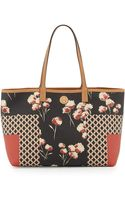 Tory Burch Kerrington Mixedprint Shopper Bag - Lyst
