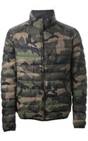 Valentino Padded Camouflage Print Jacket - Lyst