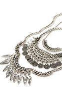 Forever 21 Coin Fringe Chain Necklace - Lyst
