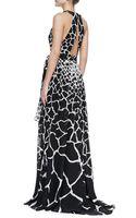 Roberto Cavalli Halter-neck Giraffe-print Gown - Lyst