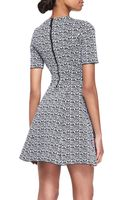 Kenzo Compact Knit Fit Flare Dress - Lyst