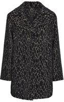 Karen Millen Leopard Texture Coat - Lyst