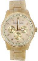 Michael Kors Watches Horn and Mop Chronograph Watch - Lyst