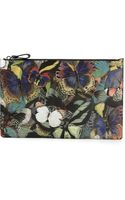 Valentino Textured Butterfly Print Clutch - Lyst