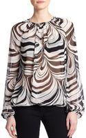 Diane von Furstenberg Hathaway Printed Silk Top - Lyst