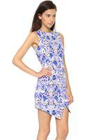 Tbags Los Angeles Scuba Mini Dress Floral - Lyst