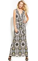 Inc International Concepts Petite Printed Fauxwrap Maxi Dress - Lyst