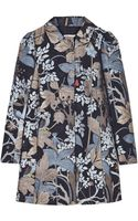 RED Valentino Forest Print Evening Coat - Lyst