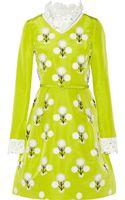 Oscar de la Renta Embellished Silk-faille Dress - Lyst
