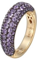 John Hardy Gold Classic Chain Amethyst Slim Dome Ring - Lyst