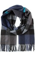 Burberry Checkered Scarf - Lyst